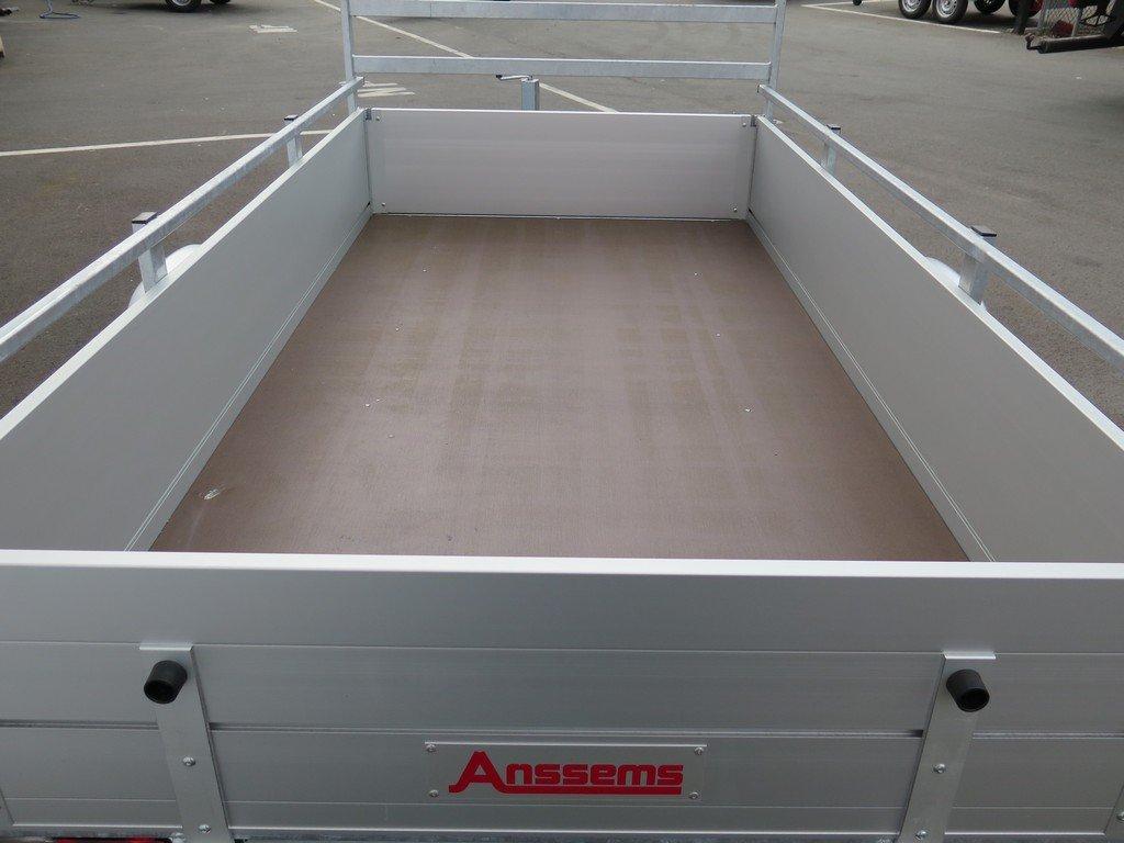 Anssems enkelas aanhanger 251x130cm 1350kg alu Aanhangwagens XXL West Brabant 2.0 bak Aanhangwagens XXL West Brabant