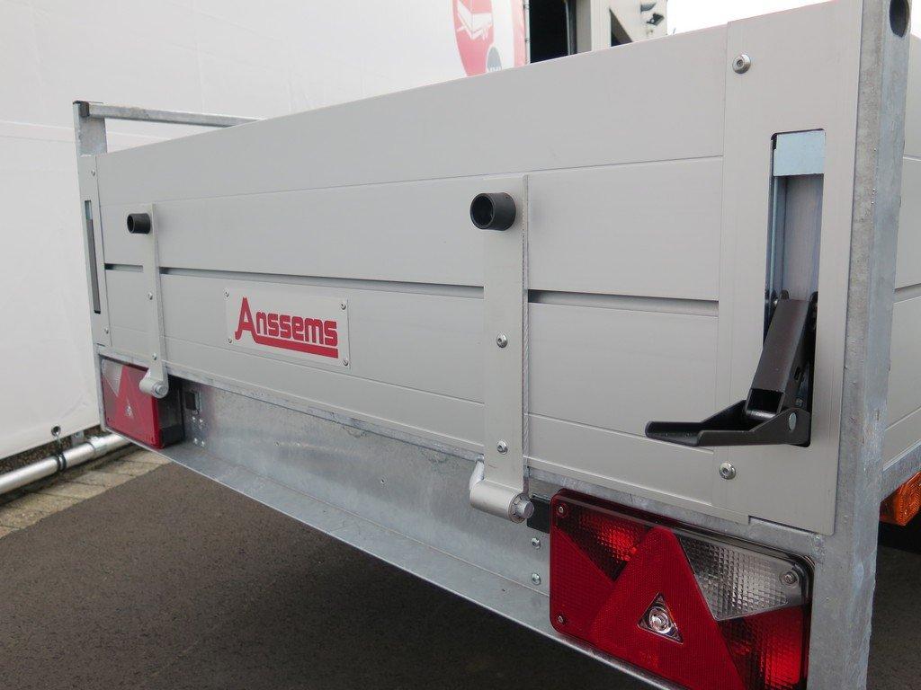 Anssems enkelas aanhanger 251x130cm 1350kg alu Aanhangwagens XXL West Brabant 2.0 sluiting Aanhangwagens XXL West Brabant