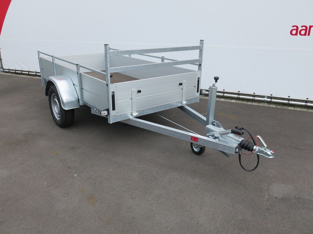 Anssems enkelas aanhanger 251x130cm 1350kg alu Aanhangwagens XXL West Brabant 2.0 voorkant Aanhangwagens XXL West Brabant