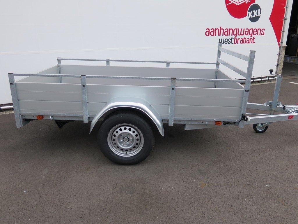 Anssems enkelas aanhanger 251x130cm 1350kg alu Aanhangwagens XXL West Brabant 2.0 zijkant Aanhangwagens XXL West Brabant
