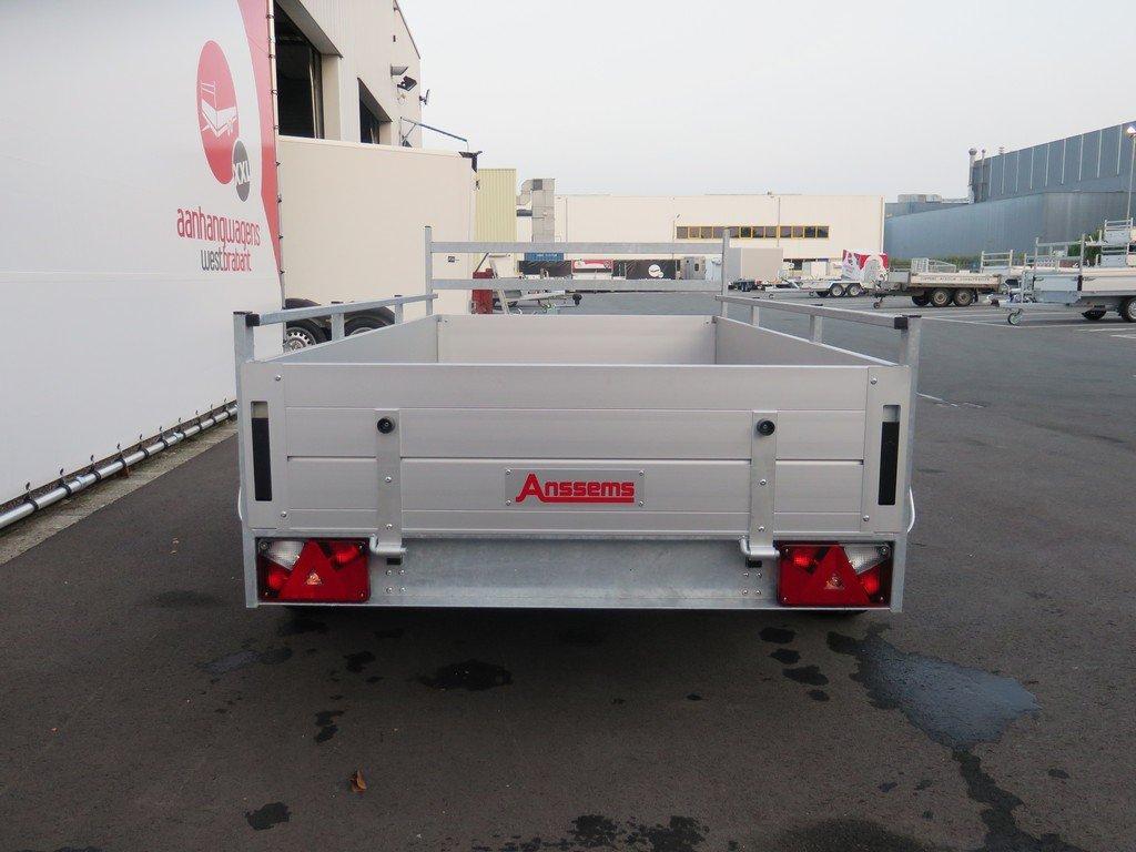 Anssems tandemas aanhanger 251x130cm 2500kg Aanhangwagens XXL West Brabant 2.0 achter dicht