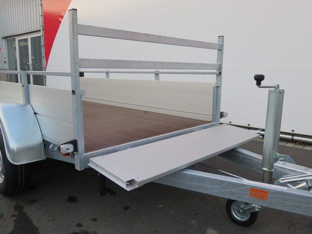 Anssems tandemas aanhanger 251x130cm 2500kg Aanhangwagens XXL West Brabant 2.0 voorbord open