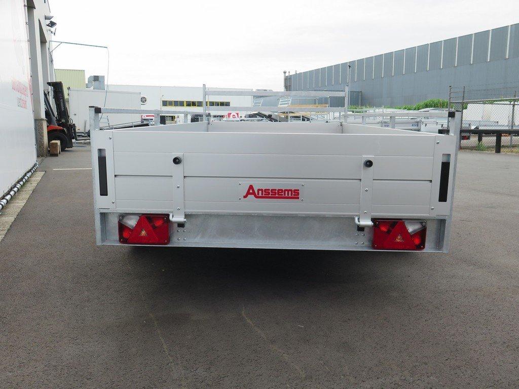 Anssems tandemas aanhanger 301x150cm 2500kg alu Aanhangwagens XXL West Brabant 2.0 achter dicht