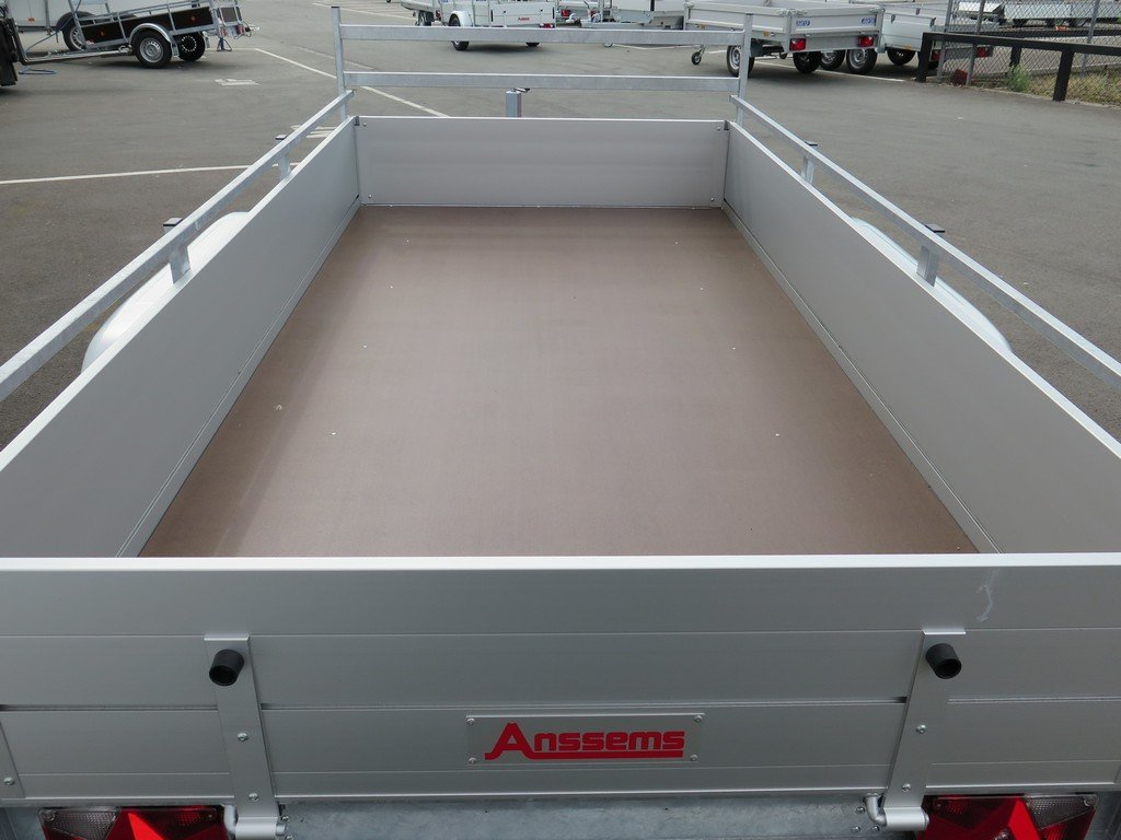 Anssems tandemas aanhanger 301x150cm 2500kg alu Aanhangwagens XXL West Brabant 2.0 bak