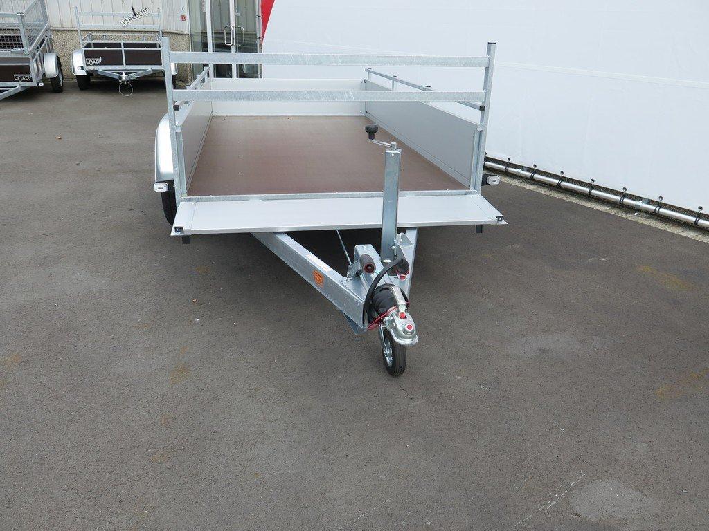 Anssems tandemas aanhanger 301x150cm 2500kg alu Aanhangwagens XXL West Brabant 2.0 voorbord open