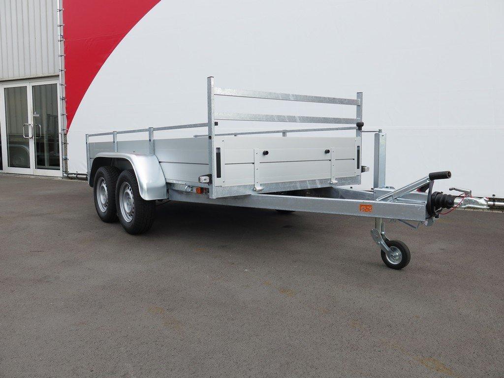 Anssems tandemas aanhanger 301x150cm 2500kg alu Aanhangwagens XXL West Brabant 2.0 zijkant