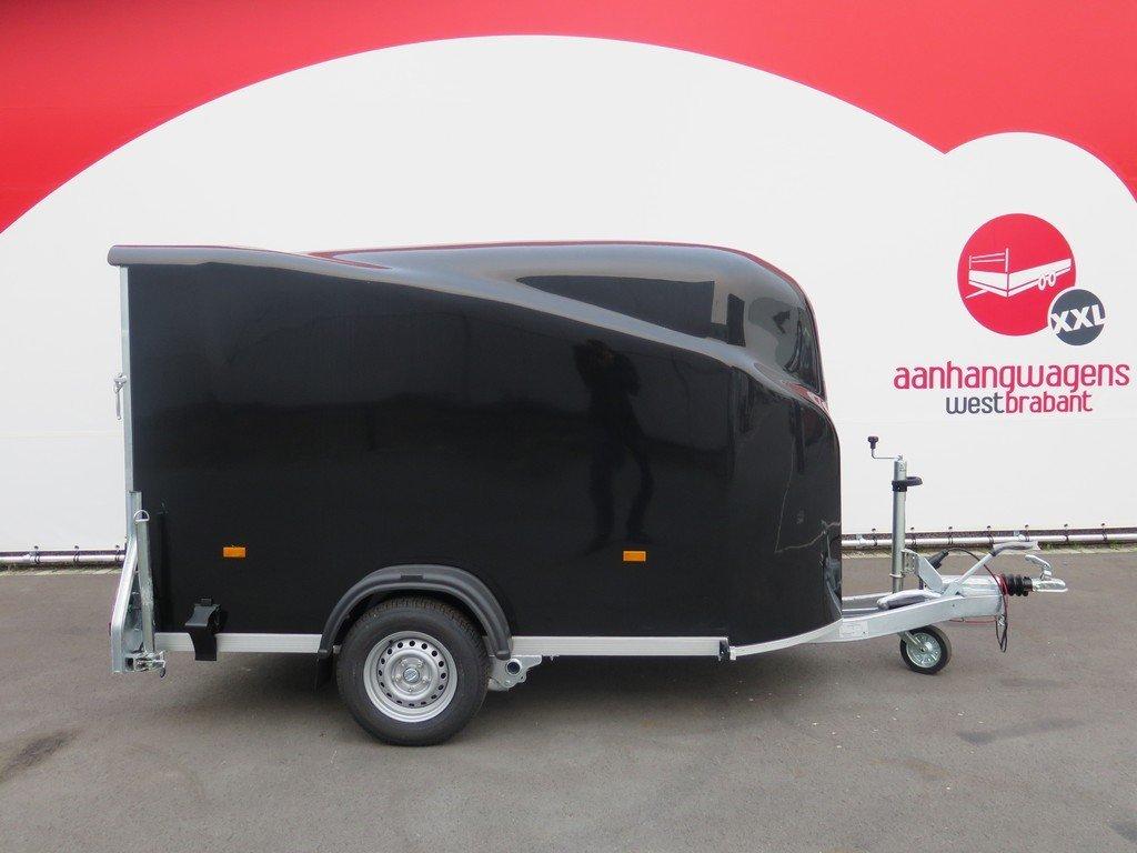 Easyline gesloten aanhanger 300x151x170cm 1300kg zwart Aanhangwagens XXL West Brabant 4.0 hoofd Aanhangwagens XXL West Brabant