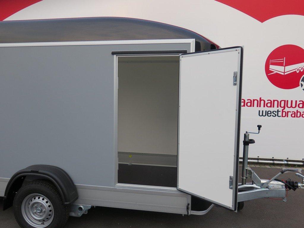Easyline gesloten aanhanger 302x150x197cm 1300kg Aanhangwagens XXL West Brabant 3.0 zijdeur Aanhangwagens XXL West Brabant