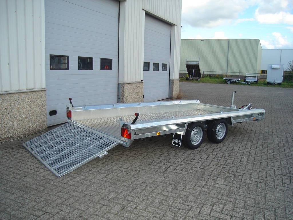 Hulco machinetransporter 394x180cm 3000kg Aanhangwagens XXL West Brabant geopend Aanhangwagens XXL West Brabant