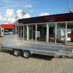 Hulco machinetransporter 394x180cm 3000kg Aanhangwagens XXL West Brabant hoofd
