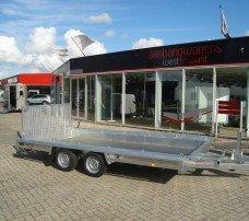 Hulco machinetransporter 394x180cm 3000kg Aanhangwagens XXL West Brabant hoofd Aanhangwagens XXL West Brabant