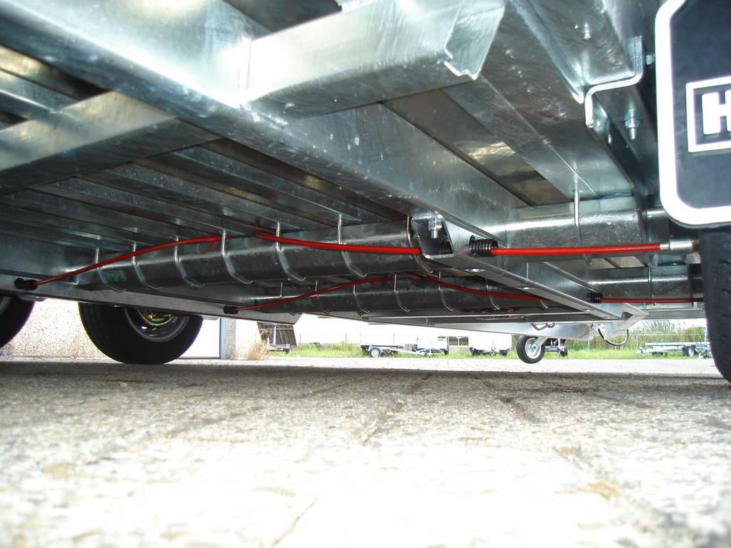 Hulco machinetransporter 394x180cm 3000kg Aanhangwagens XXL West Brabant onderstel