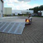 Hulco machinetransporter 394x180cm 3000kg Aanhangwagens XXL West Brabant oprijplaat