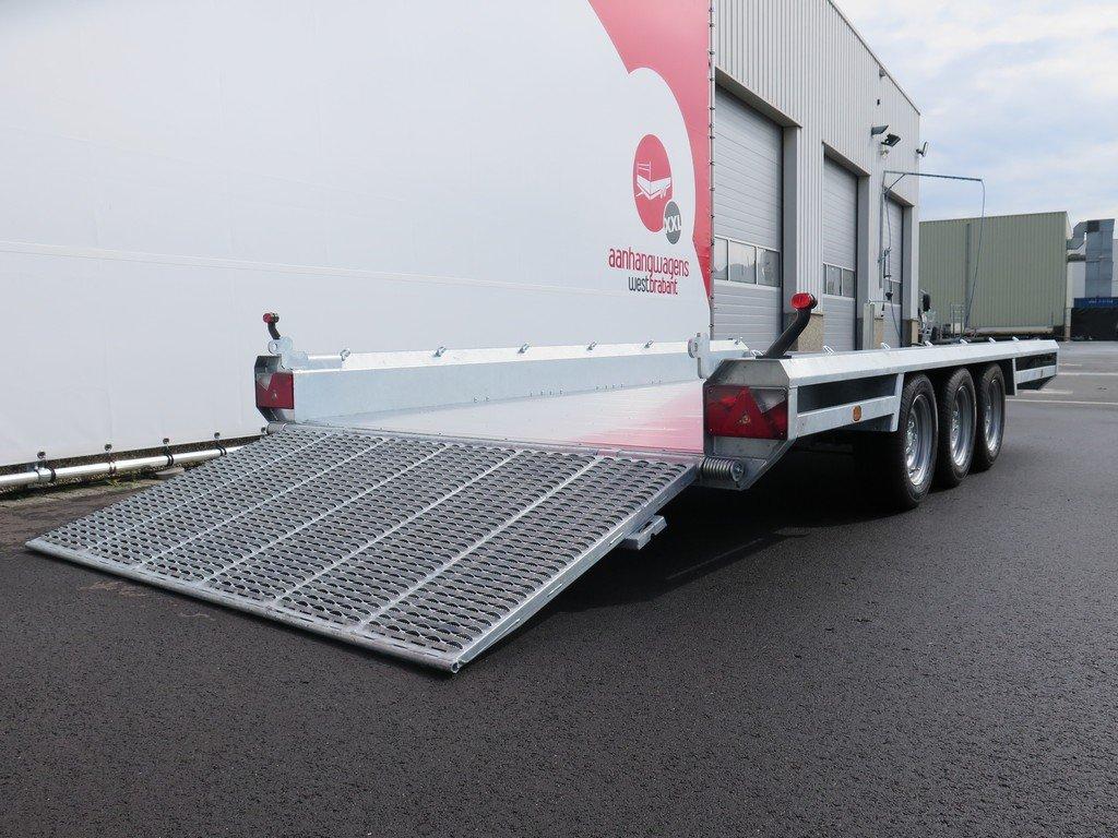 Hulco machinetransporter 394x180cm 3500kg Aanhangwagens XXL West Brabant 2.0 oprijklep Aanhangwagens XXL West Brabant