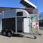 Humbaur Single plywood 1,5 paards trailer paardentrailers Aanhangwagens XXL West Brabant hoofd Aanhangwagens XXL West Brabant