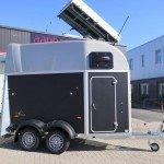 Humbaur Single plywood 1,5 paards trailer paardentrailers Aanhangwagens XXL West Brabant zijkant Aanhangwagens XXL West Brabant