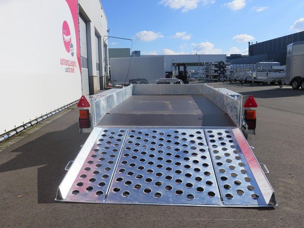 Ifor Williams machinetransporter 304x162cm 3500kg Aanhangwagens XXL West Brabant 3.0 achter open Aanhangwagens XXL West Brabant