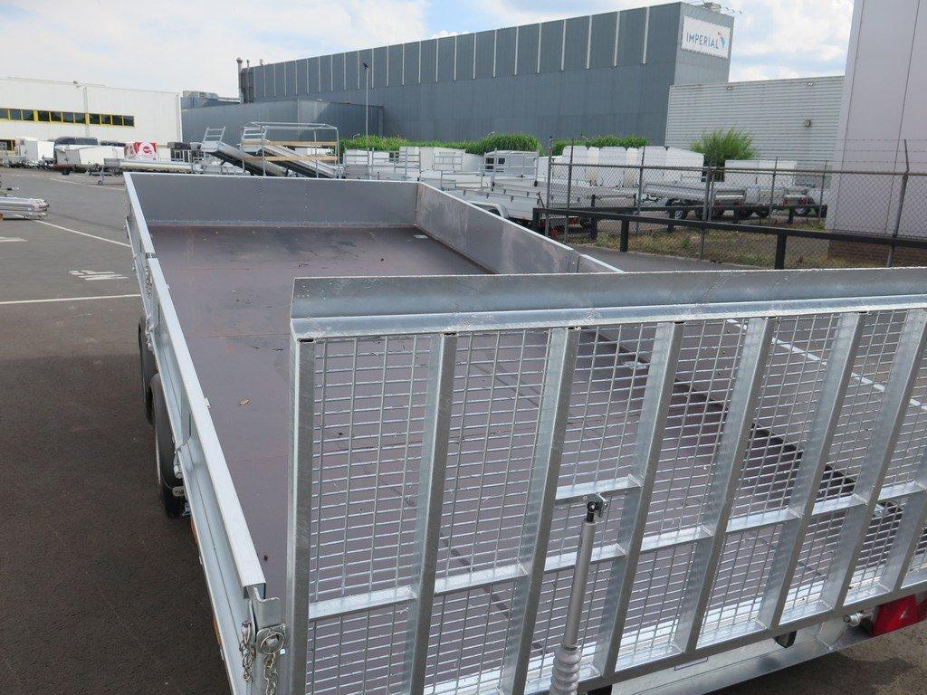 Ifor Williams machinetransporter 477x198cm 3500kg kantelbaar Aanhangwagens XXL West Brabant 2.0 achter dicht Aanhangwagens XXL West Brabant