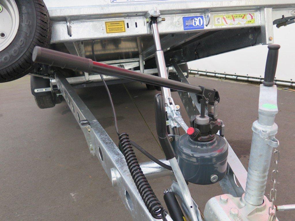Ifor Williams machinetransporter 503x204cm 3500kg kantelbaar Aanhangwagens XXL West Brabant 2.0 handpomp Aanhangwagens XXL West Brabant