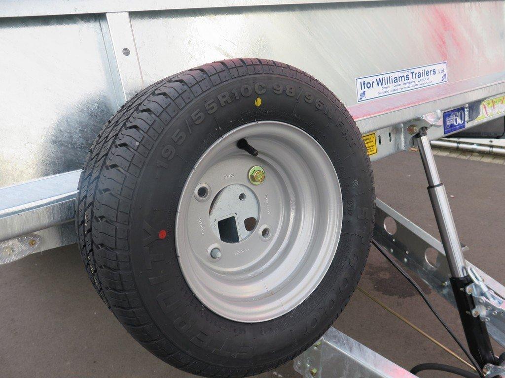 Ifor Williams machinetransporter 503x204cm 3500kg kantelbaar Aanhangwagens XXL West Brabant 2.0 reservewiel Aanhangwagens XXL West Brabant