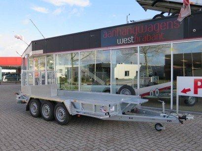 Ifor Williams transporter 429x178cm 3-as machinetransporter Aanhangwagens XXL West Brabant hoofd