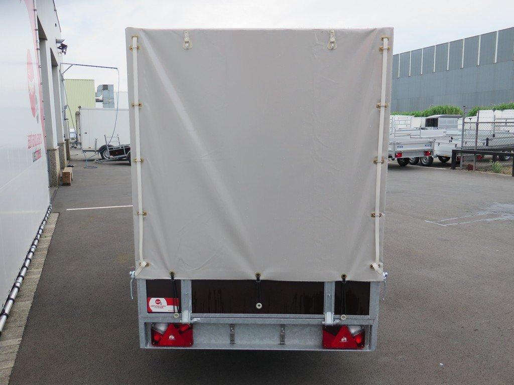 Loady huifaanhanger 254x129x150cm 750kg Aanhangwagens XXL West Brabant 5.0 achter gesloten