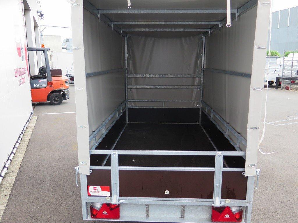 Loady huifaanhanger 254x129x150cm 750kg Aanhangwagens XXL West Brabant 5.0 achter open
