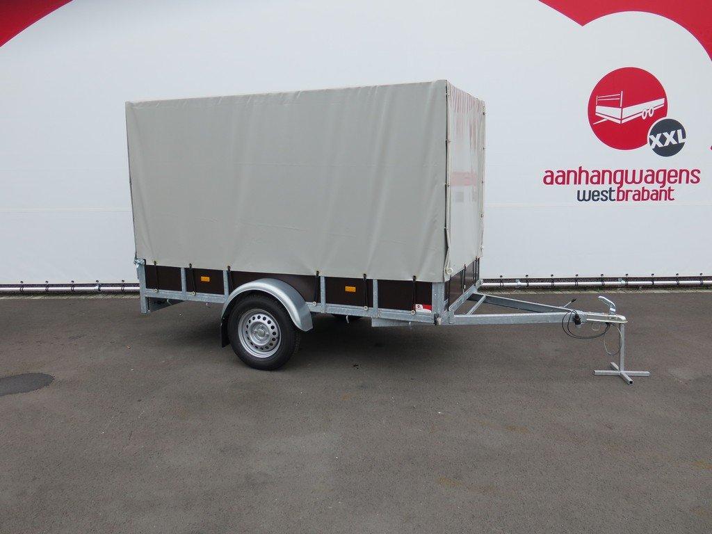 Loady huifaanhanger 254x129x150cm 750kg Aanhangwagens XXL West Brabant 5.0 hoofd