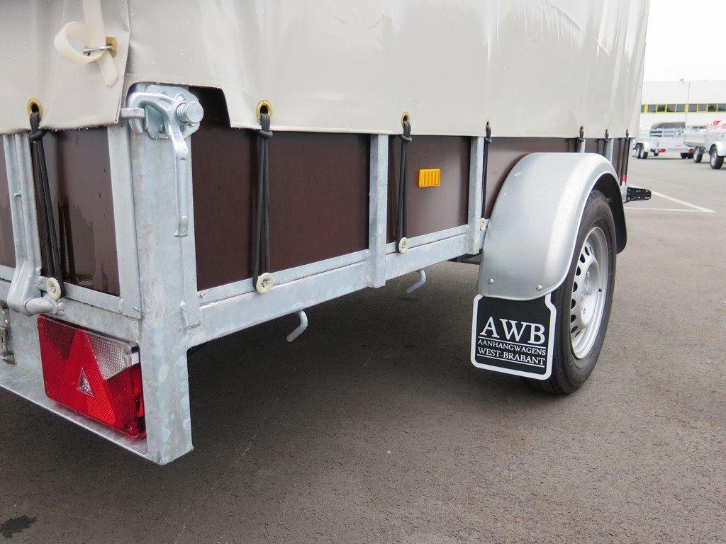 Loady huifaanhanger 254x129x150cm 750kg Aanhangwagens XXL West Brabant 5.0 touwhaken extra