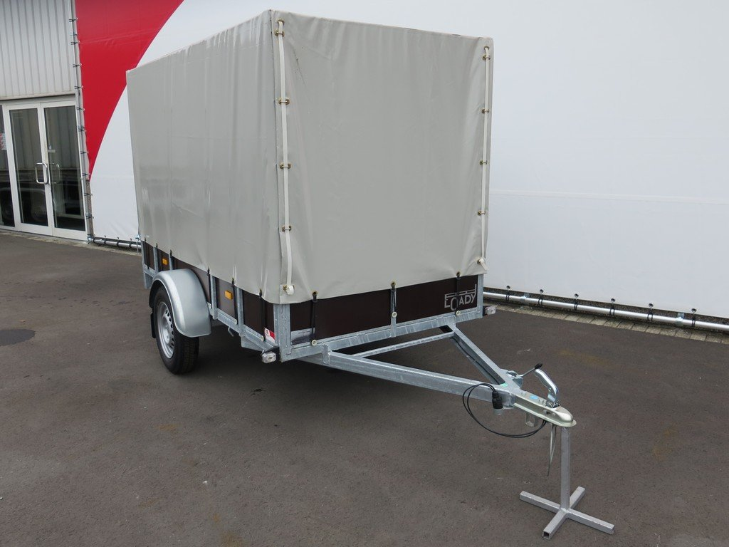 Loady huifaanhanger 254x129x150cm 750kg Aanhangwagens XXL West Brabant 5.0 voorkant
