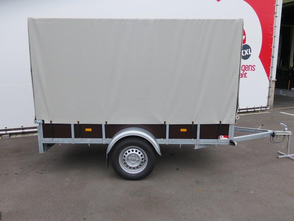 Loady huifaanhanger 254x129x150cm 750kg Aanhangwagens XXL West Brabant 5.0 zijkant