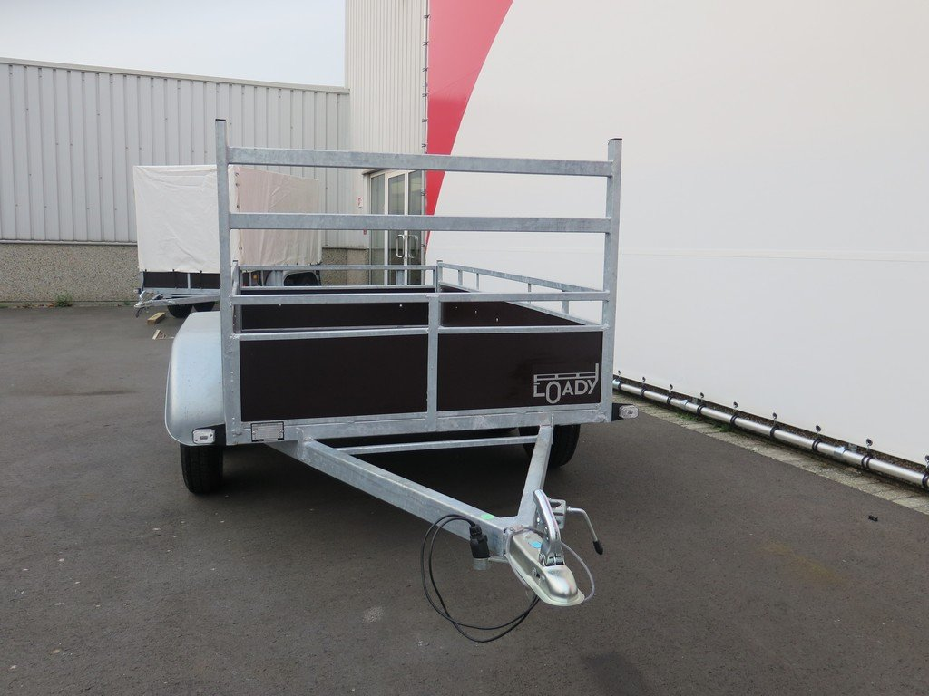 Loady tandemas aanhanger 254x130cm 750kg Aanhangwagens XXL West Brabant 2.0 voorkant