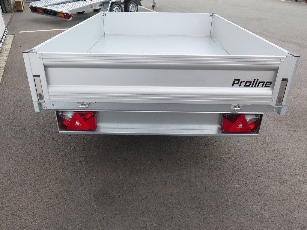 Proline kipper 230x150cm 1500kg Aanhangwagens XXL West Brabant 2.0 achterkant vlak Aanhangwagens XXL West Brabant