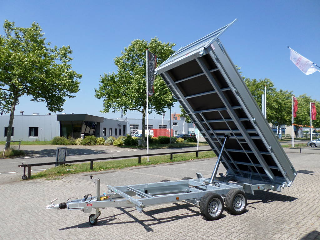Proline kipper 401x202cm 3500kg 2-as kippers Aanhangwagens XXL West Brabant volledig kiepen