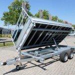 Proline kipper 401x202cm 3500kg 2-as kippers Aanhangwagens XXL West Brabant zijcilinder