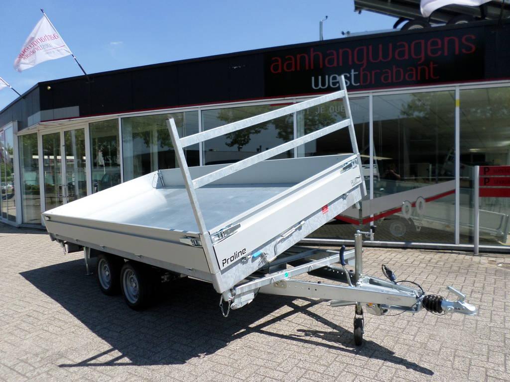 Proline kipper 401x202cm 3500kg 2-as kippers Aanhangwagens XXL West Brabant zijkant kiepen