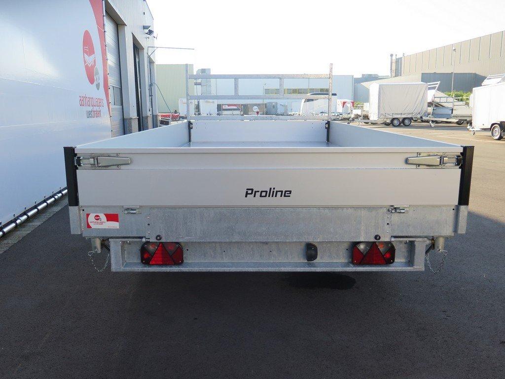 Proline kipper 401x202cm 3500kg tridemas Aanhangwagens XXL West Brabant 2.0 achterkant vlak