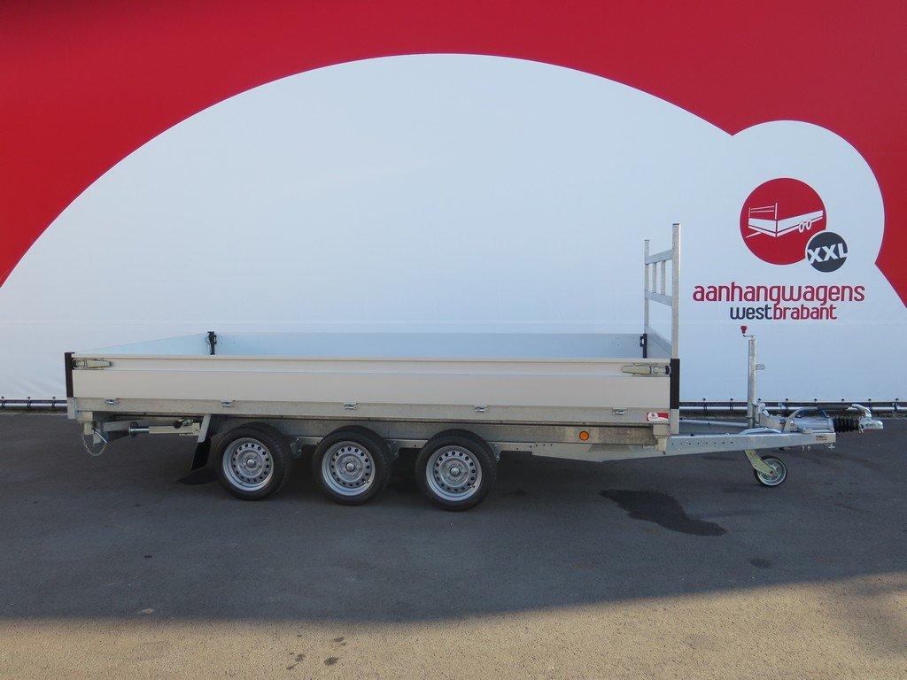 Proline kipper 401x202cm 3500kg tridemas Aanhangwagens XXL West Brabant 2.0 zijkant vlak