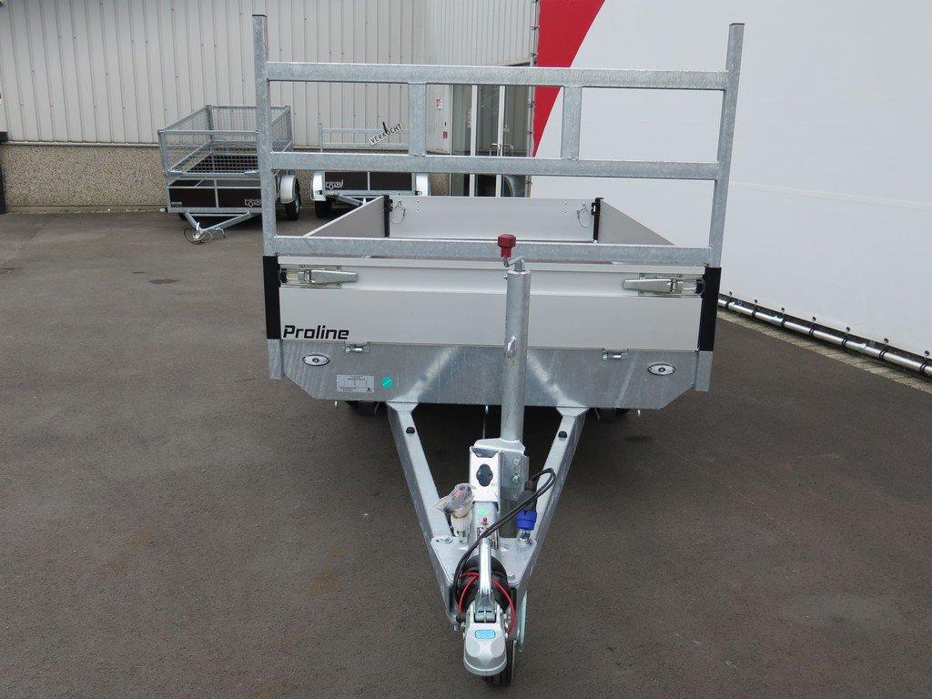 Proline plateauwagen 301x155cm 2000kg Aanhangwagens XXL West Brabant 6.0 voorkant Aanhangwagens XXL West Brabant