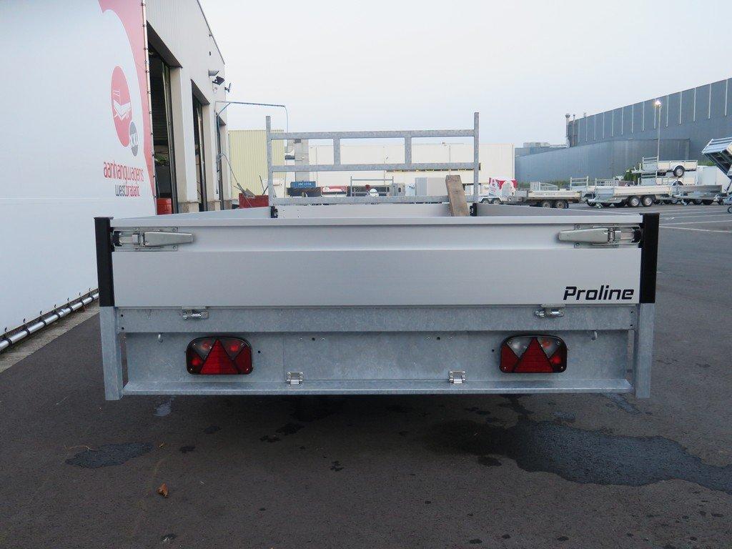 Proline plateauwagen 351x185cm 2700kg verlaagd Aanhangwagens XXL West Brabant 2.0 achterkant