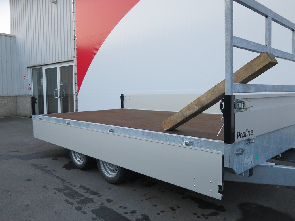 Proline plateauwagen 351x185cm 2700kg verlaagd Aanhangwagens XXL West Brabant 2.0 vlak