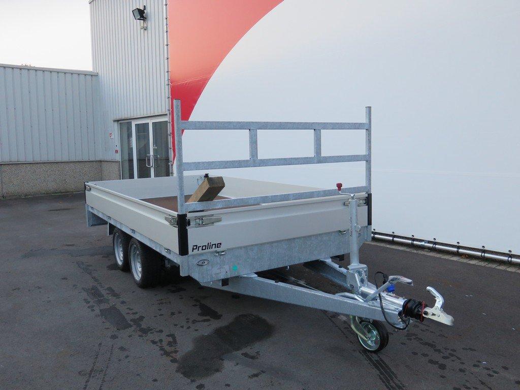 Proline plateauwagen 351x185cm 2700kg verlaagd Aanhangwagens XXL West Brabant 2.0 voorkant