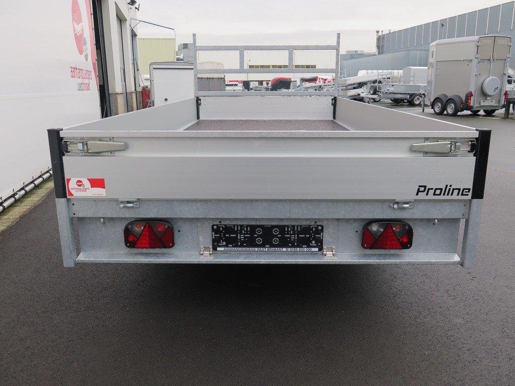 Proline plateauwagen 401x185cm 2700kg verlaagd Aanhangwagens XXL West Brabant 3.0 achterkant