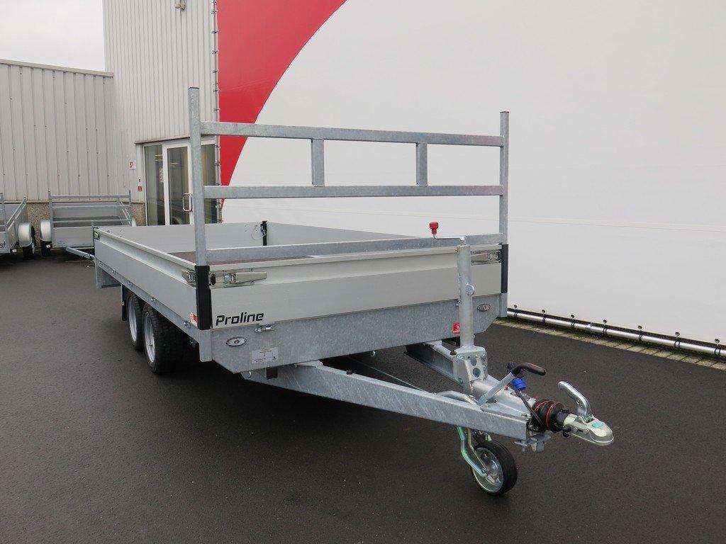 Proline plateauwagen 401x185cm 2700kg verlaagd Aanhangwagens XXL West Brabant 3.0 voorkant