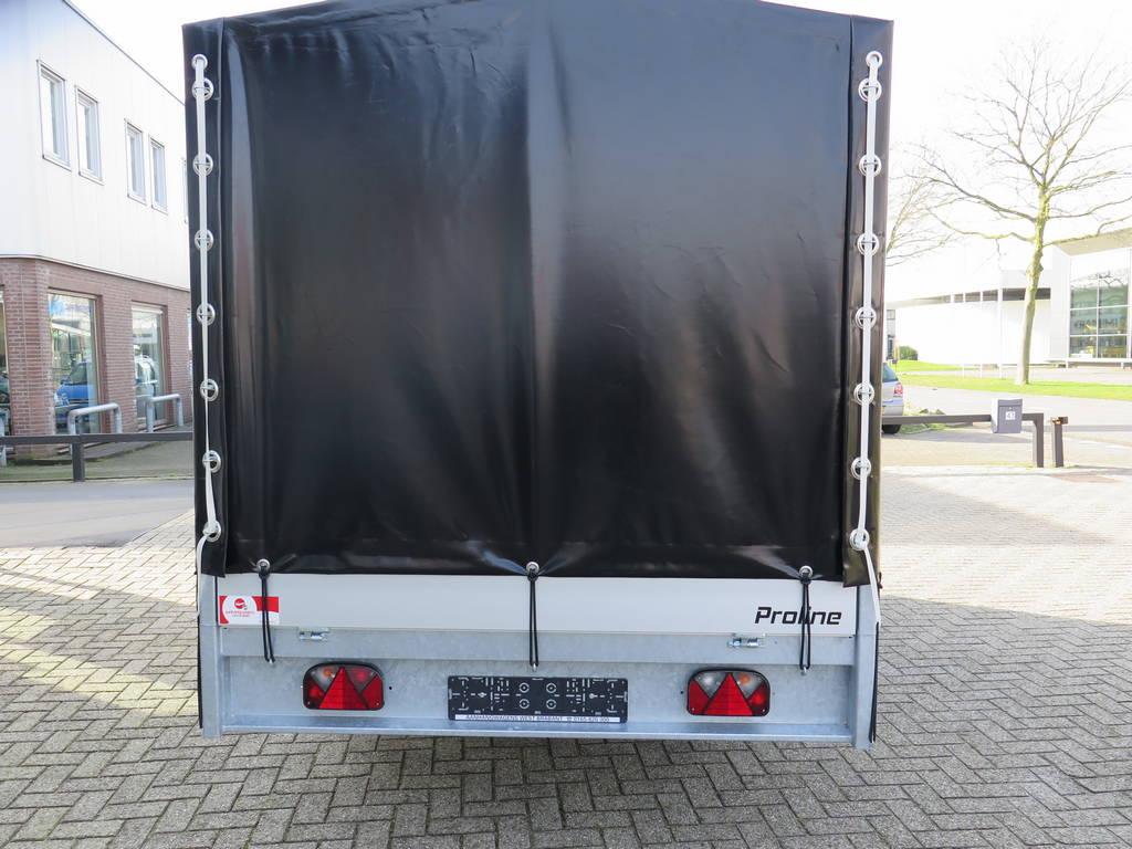 Proline plateauwagen met huif huif aanhangwagen Aanhangwagens XXL West Brabant achterkant