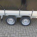 Proline plateauwagen met huif huif aanhangwagen Aanhangwagens XXL West Brabant dubbele as