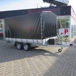 Proline plateauwagen met huif huif aanhangwagen Aanhangwagens XXL West Brabant hoofd