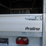 Proline plateauwagen met huif huif aanhangwagen Aanhangwagens XXL West Brabant sluiting