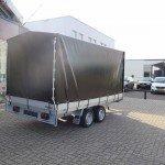 Proline plateauwagen met huif huif aanhangwagen Aanhangwagens XXL West Brabant sluiting volledig