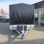 Proline plateauwagen met huif huif aanhangwagen Aanhangwagens XXL West Brabant sluiting voorkant